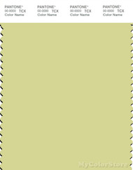 PANTONE SMART 12-0426X Color Swatch Card, Mellow Green