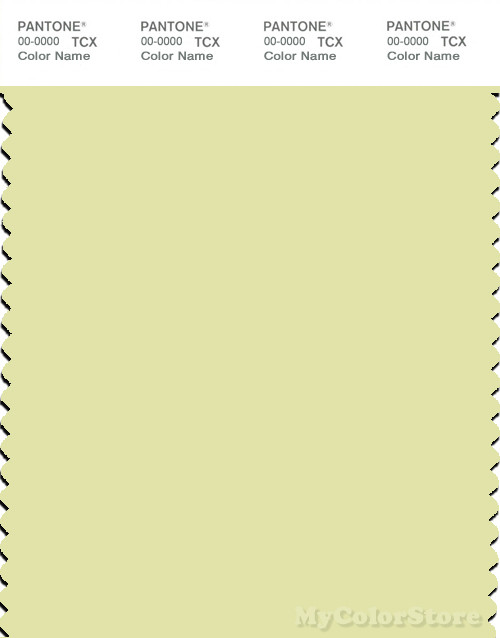 PANTONE SMART 12-0521X Color Swatch Card, Young Wheat