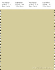 PANTONE SMART 12-0619X Color Swatch Card, Dusty Yellow