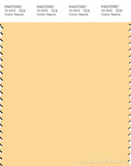 PANTONE SMART 12-0826X Color Swatch Card, Golden Haze