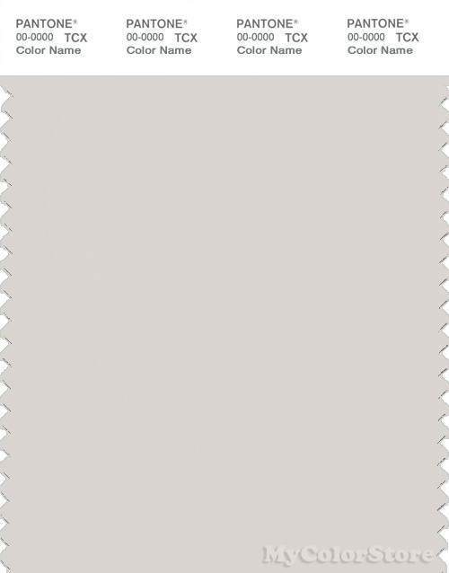 PANTONE SMART 13-0002X Color Swatch Card, White Sand