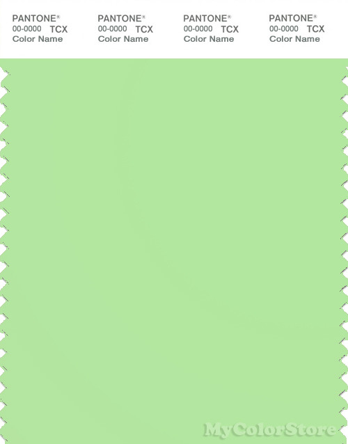 PANTONE SMART 13-0220X Color Swatch Card, Paradise Green