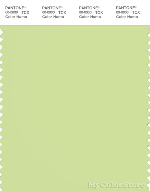 PANTONE SMART 13-0319X Color Swatch Card, Shadow Lime