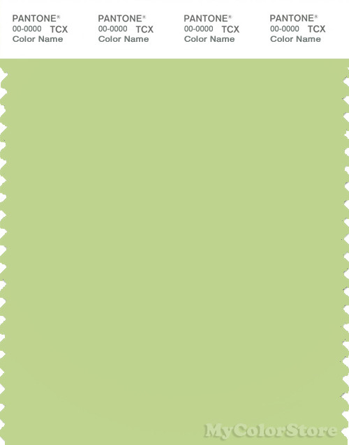 PANTONE SMART 13-0324X Color Swatch Card, Lettuce Green