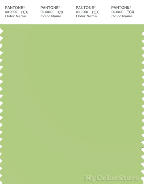 PANTONE SMART 13-0331X Color Swatch Card, Sap Green