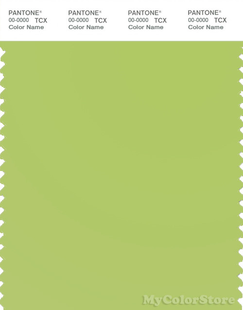 PANTONE SMART 13-0442X Color Swatch Card, Green Glow
