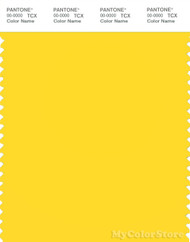 PANTONE SMART 13-0858X Color Swatch Card, Vibrant Yellow