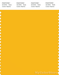 PANTONE SMART 14-0957X Color Swatch Card, Spectra Yellow