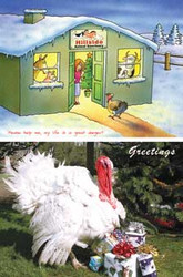 Turkey Design Christmas Cards