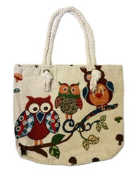 Owl Design Canvas Bag