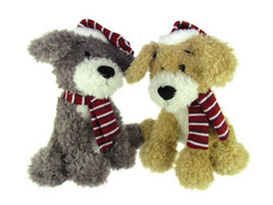 "15"" Scruffy Festive Dogs"