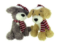 "10"" Scruffy Festive Dogs"
