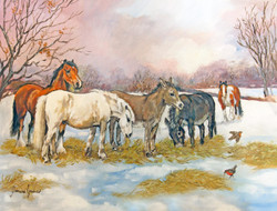 'Contentment on a Winter's Day' Original Oil Painting