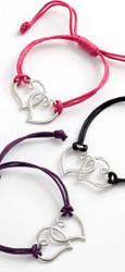 Double-heart Cord Bracelet