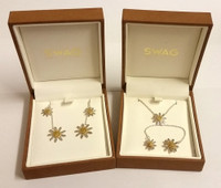 Daisy Style Earrings and Necklace from Swag Jewellers