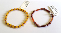 Two Jade and Gold Coloured Stone Bracelets [8]
