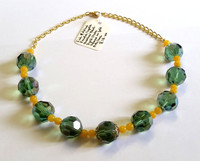 Fire Polished Crystal and Jade Necklace [10]