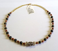 Real Stone and Gold Stone Necklace [15]