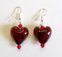 Pietro Heart Shaped Glass Earrings [20]