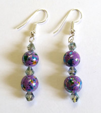 Miracle Glass Bead Earrings [21]