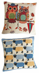 Owl and Sheep Cushions