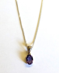Amethyst Sterling Silver Necklace [23]