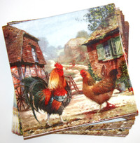 Cockerel and Hen Napkins