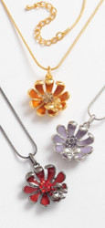 Flower and Butterfly Pendant with Chain