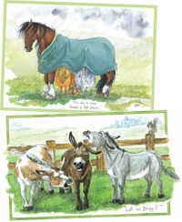 Hillside Animal Cartoon Christmas Cards