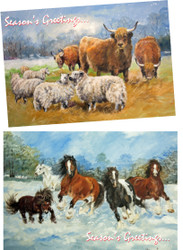 Hillside Sanctuary Scenes Christmas Cards