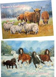 XM17. Hillside Christmas Cards