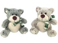 Cuddly Bear with Scarf