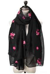 Black with rose design