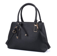 Black Handbag with Bowknot