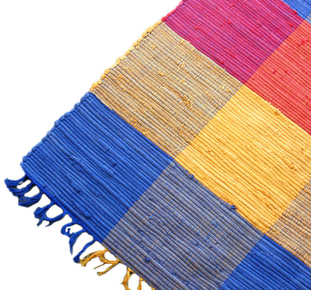 As a recycled product, each rug is unique, featuring different colours