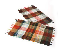 Small Multi Cotton Check Rug