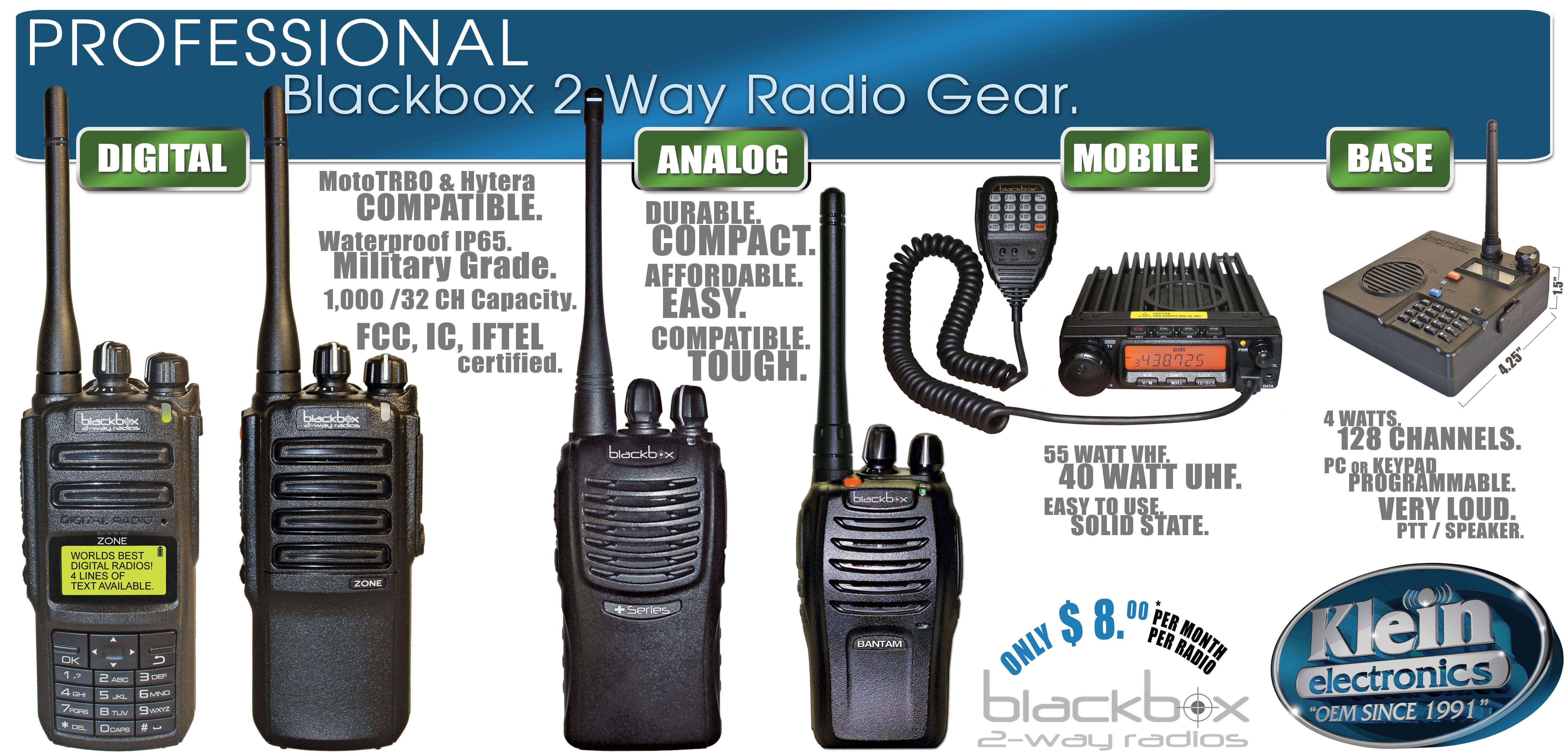 Blackbox Two Way Radio Gear