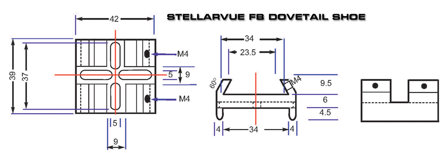 Stellarvue FB Dovetail SHoe