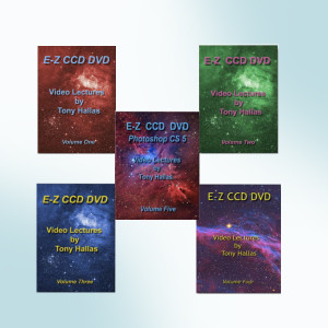 Learn Astrophotography with Tony Hallas 5 DVD Set
