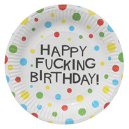 X-Rated Birthday Party Plates