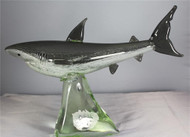 Glass Great White Shark/Glow In The Dark/Handcrafted/Home Decor