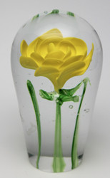 Yellow Glass Rose/Handcrafted/Blown Glass Art/Home Decor