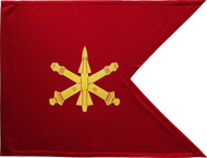 Air Defense Artillery Guidon Unframed 20x27 (Regulation)