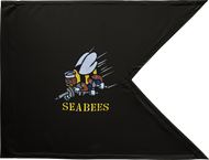 US Navy Seabees Guidon Framed 11x14
