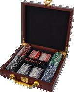 Rosewood Box Poker Set