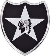 2nd Infantry Division Car Emblem