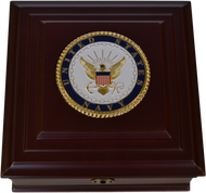 Navy Desktop Keepsake Box