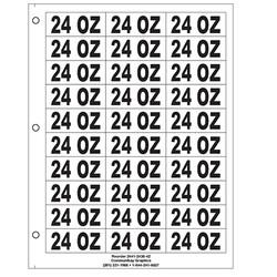 "1"" 24 Oz"