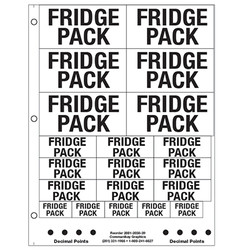 "1"" and 2"" Fridge Pack"