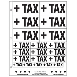 """1"""" and 2"""" +Tax"""